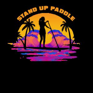 Stand up Paddle sunset women