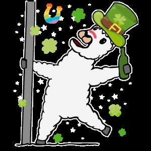 St. Patricks Day betrunkenes Lama Für Damen Herren