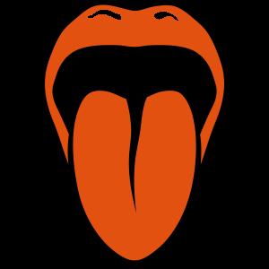 Zunge raus Mund 2 Lippen Zunge 2805