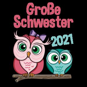 Große Schwester 2021 Eule Geschenk