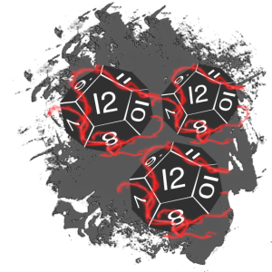 Zwölf-seitige Würfel weiß, Table Top, Fantasy-RPG