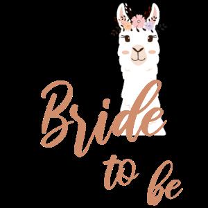 Bride to be Braut Alpaka Lama JGA Junggesellin