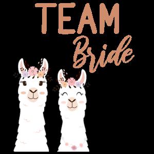Team Bride Braut Alpaka Lama JGA Junggesellin