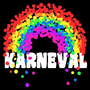 Karneval Konfetti Regenbogen