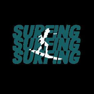 Surfen, Ferien Am Strand, Im Urlaub Surfen