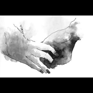 Hände halten - Verliebtes Paar