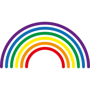 Regenbogen mehrfarbige Linien
