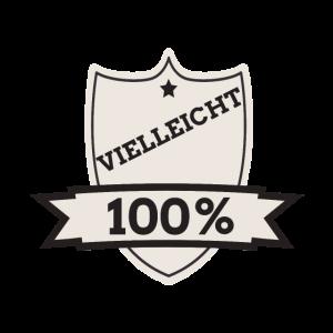100 % VIELLEICHT, 100 Pro, 100, vielleicht, Logo