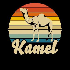 Kamel Zoo Tier Retro Design Geschenk