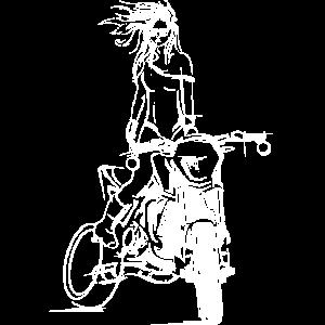 biker girl supermoto