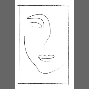 Vintage Face - One Line Art