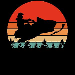 Oldtimer Schneemobil Retro Schlitten T-Shirt
