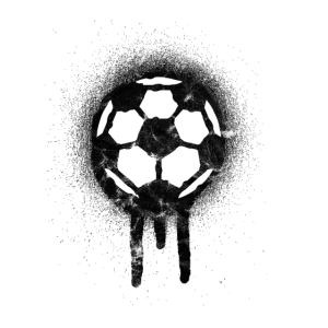 Soccer Streetart Retro