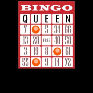 Bingo Königin Glücksspiel Spiel Spieler Geschenk