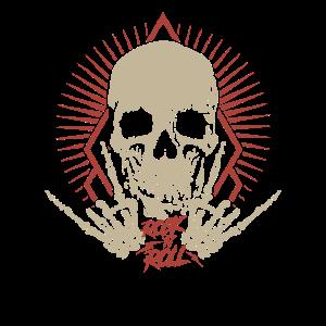 Rock n Roll Totenkopf Hardrock Metal Fan Geschenk