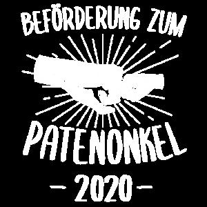 Patenonkel 2020 Onkel Taufpate Geschenk & Ankündig