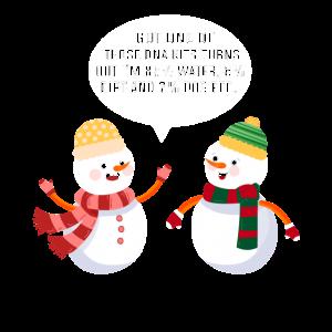 Schneemänner Schneemann lustiger Comic für Winter