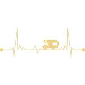 Camping Wohnmobil EKG Alkoven Herzschlag Camper