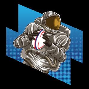 Astronaut Plays Rugby - Galaxy Sport Rugby Team