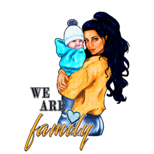 We are family - Familien-Spruch | Yolo-Artwork