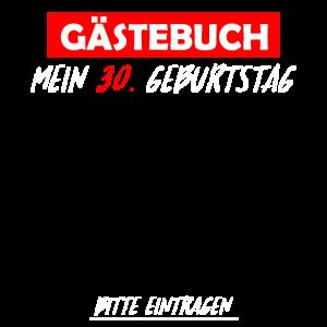 Gaestebuch 30 Geburtstag