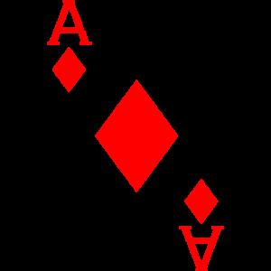 Karo Aß Kartenspiel Poker Fasching Kostüm