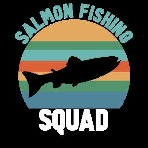 Lachsfischen Angler und Fisher Lachs angeln