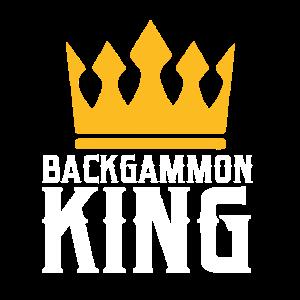 Backgammon-Brettspiel Schach-König