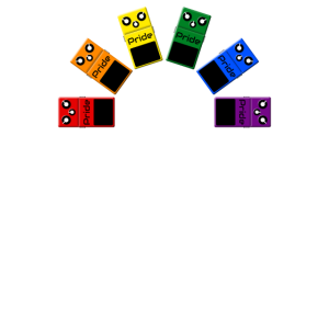 Homosexueller Stolz-Regenbogen-Flagge - Gitarren-Effektpedale