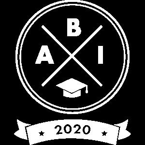 Abi Abitur Abschluss 2020 - Doktorhut Kreuz Logo