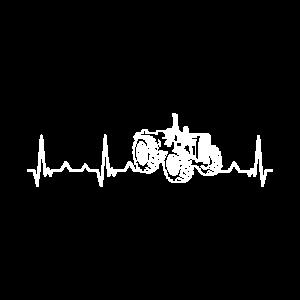 Traktor Herzschlag Schlepper Trecker Liebhaber