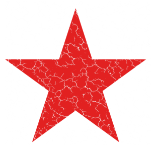 roter Stern, red star, used, maske