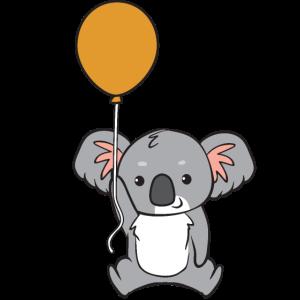 Koala - mit Ballon