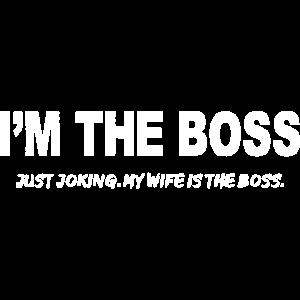 Frau Ehefrau Wife ist der Boss vom Ehemann