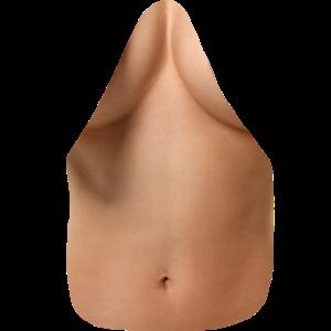 Fake Oberkörper / Frau / Bauch / Brust / Nackt