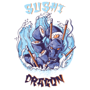 Sushi Dragon Drache