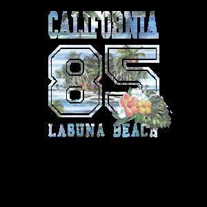 Vintage Laguna Beach Vintage Familienstrand