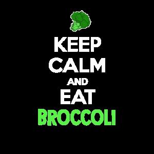 Halten Sie ruhig und essen Sie Brokkoli Gemüsepflanze Esser