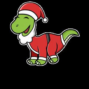 Cartoon Santasaurus Brontosaurus