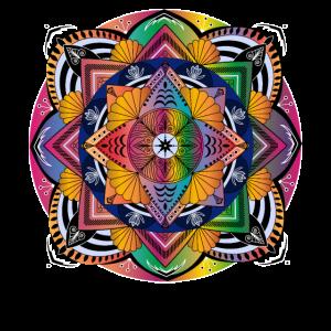 Heilige Geometrie Buntes Mandala