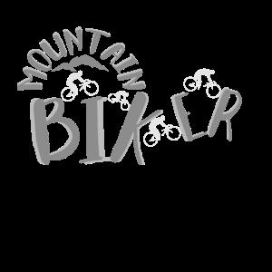 Mountainbiker Schriftzug