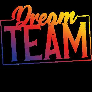Dream team stempel bunt