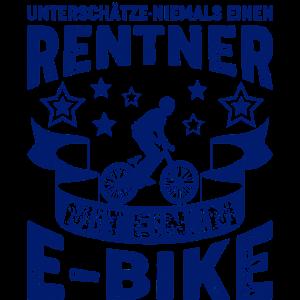 E-Bike Rentner Rad Fahrrad Ebike Spruch Geschenk