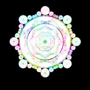 Kreismandala in psychedelischen Farben