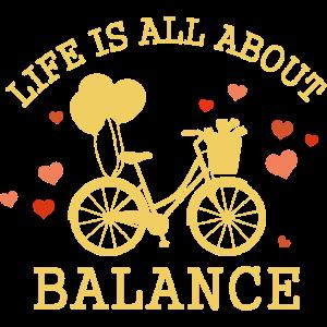 Balance und Fahrradfahren