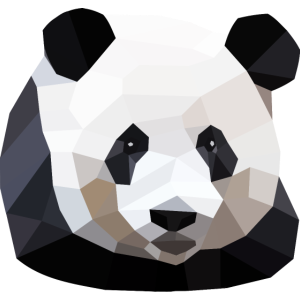 Panda Polygon Design