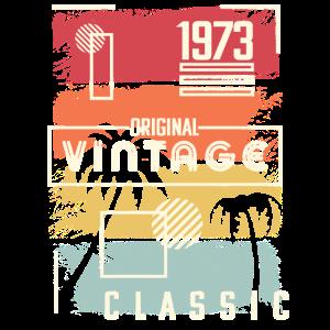 1973 Design. Vintage Geburtstagsgeschenk, Retro, Palme