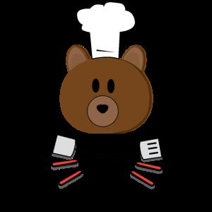 Bear Grills Bär Grillt Koch Grill Grillen Chef