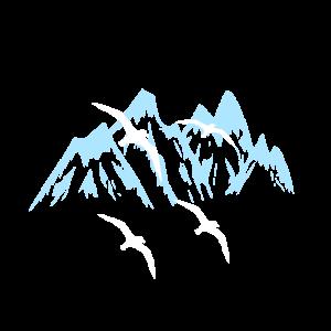 Gebirge Berge Voegel Natur Bergsteiger