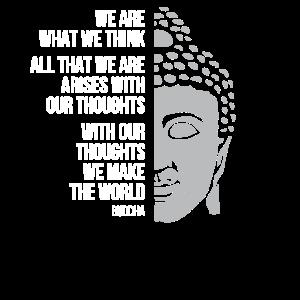 Buddha Zitat Zen Buddhismus Yoga Gesicht Statue